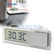 Car LCD <b>Digital Thermometer</b> Auto Window Outdoor Energy-saving ...