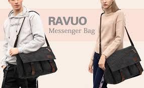 <b>Messenger</b> Bag for <b>Men</b>,Water Resistant <b>Canvas</b> Satchel 14 15.6 17 ...