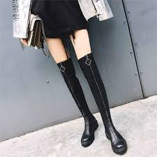<b>NAYIDUYUN</b> Thigh High Boots <b>Womens</b> Black Leather Knee High ...