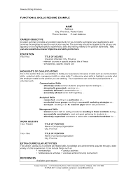 skills based resume example cvs and applications skill set samples gallery of example of skills based resume
