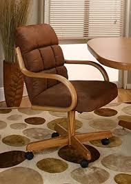 Casual Rolling Caster Dining Chair with Swivel Tilt in ... - Amazon.com