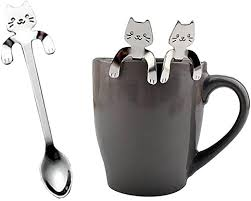 YJYdada 1 Piece Cute Cat Spoon Long Handle ... - Amazon.com