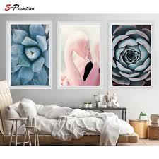Succulent Print Flamingo Poster <b>Cactus Wall Art</b> Tropical Decor ...