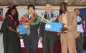 fifty returnees graduate marketable skills in wau undp in female graduate receiving toolkits from the ambassador of to the republic of south sudan h e kiya masahiko next right undp south sudan country