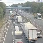 LIVE: Long delays on M56 after multi-vehicle crash near airport