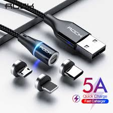 ROCK 5A <b>Magnetic</b> Cable Micro <b>Usb Type C</b> Super Fast Charging ...