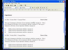 doc how to make an easy resume in microsoft word create resume on word template