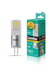 Светодиодная <b>лампочка</b> LED 5W 3000К <b>G4</b> 12В <b>Camelion</b> ...
