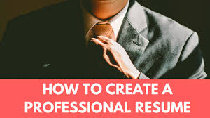 how to create professional resume no software need  how to create professional resume no software need 2017