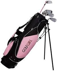 Golf Girl Junior Club Set for Kids Ages 8-12 RH w/<b>Pink</b> Stand Bag