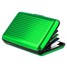 <b>Waterproof Metal</b> Credit Card Holder Wallet <b>Stainless Steel</b> ...