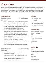 dietician nutritionist cv example hashtag cv dietician cv example and template
