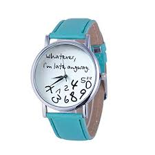 Whatever I am Late Anyway Letter Women Leather ... - Amazon.com