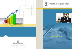cover page designs on behance ministry of corporate affairs report cover
