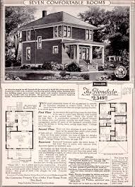 Sears Kit House   The Glendale   Two story Traditional Foursquare Sears Glendale