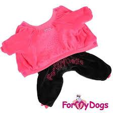 <b>For My Dogs</b> (Фо Май Догз) <b>Костюм</b> утепленный велюр розовый ...