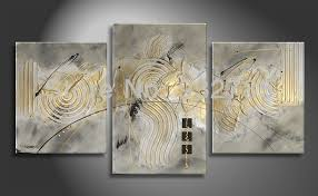 canvas Silver <b>Artistic</b> Modern Abstract <b>high quality handmade</b> oil ...