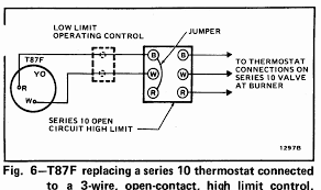 room thermostat wiring diagrams for hvac systems Honeywell 2 Wire Programmable Thermostat honeywell t87f thermostat wiring diagram for 2 wire, spst control of heating only in 2 wire programmable thermostat