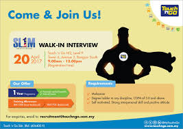 touch n go sdn bhd linkedin new walk in interview session explore your potential and opportunities us please come early for 30 minutes motivation talk 10 00 10 30 am and gain
