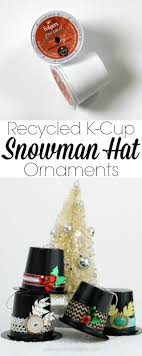 household dining table set christmas snowman knife: recycled k cup snowman hat ornaments what a great upcycle pitterandglinkcom