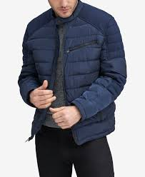 Marc <b>New York Men's</b> Faux-Down Moto <b>Jacket</b> - Navy | <b>Mens</b> street ...