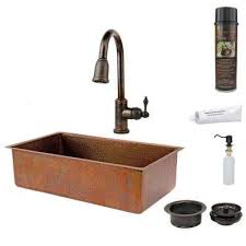 hammered copper kitchen sink: all in one undermount hammered copper  in  hole single bowl