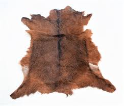 Goat Skin <b>Rug</b> Soft Animal 100% <b>Genuine Leather</b> Natural Pattern