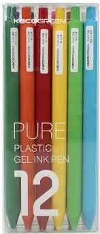 Комплект гелевых ручек Xiaomi <b>KACO</b> Pure Plastic Gelic Pen 12 шт