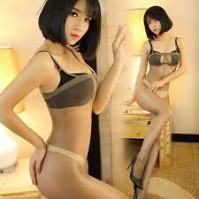 Hot <b>Sexy Erotic Lingerie</b> Bodystocking Thin Open Crotch Nylon ...