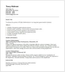 best objective to write in resume  public administration resume    public administration resume examples