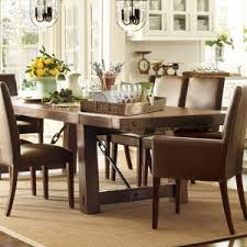 barn kitchen table classic dining room design with pottery barn rectangular kitchen table ideas brown leather upholstered dining