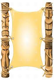 tiki face templates blank invitation in hawaii style tiki tiki face templates blank invitation in hawaii style tiki poles
