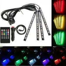 4PCS 36 <b>LED Car</b> Decorative RGB Lights Interior <b>Foot</b> Mood Light ...