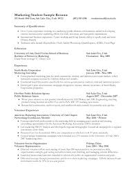 marketing student resume objective cipanewsletter resume for college objective abdh resume objective for college
