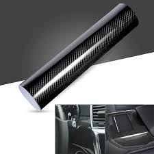 <b>Car</b> Stickers <b>Styling 200cm*50cm Glossy</b> Black 5D Carbon Fiber ...