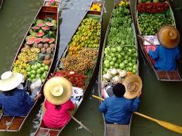 Les marchés flotants de Bangkok