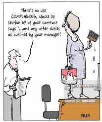 theres no use complaining clause 34 section 67 of your contract says and any other duties as outlined by your manager contract manager job description