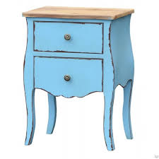 transylvania blue bedside table shabby blue shabby chic furniture