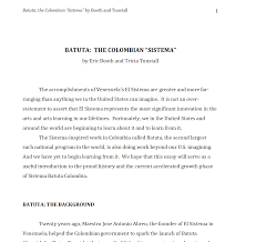 articles essays and speeches relating to el sistema batuta the n sistema booth and tunstall