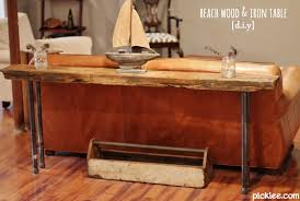 rustic wood iron table diy build your own rustic furniture