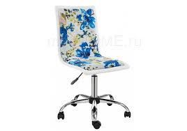 <b>Компьютерное кресло Woodville Mis</b> white / flowers fabric ...