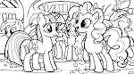 Раскраски онлайн лошадки пони для девочек