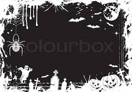 Grunge <b>Halloween</b> frame with <b>pumpkin</b>, ... | Stock vector | Colourbox