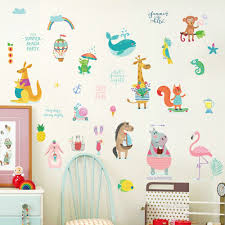 DIY <b>Cute Cartoon</b> Background Wall Becoration Wall Stickers ...