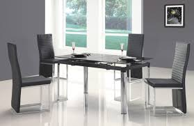 black contemporary dining table sets coaster stanton contemporary