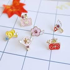 6pcs card captor <b>cardcaptor sakura star wand</b> jewelry pin badge ...