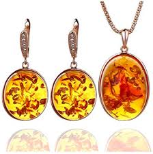 Ajojewel Orange Resin Stone Pendant Necklace ... - Amazon.com