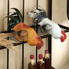 Rooster Chicken Kitchen Decor Kitchen Perfect Rooster Kitchen Decor On Frying Pan Ornaments