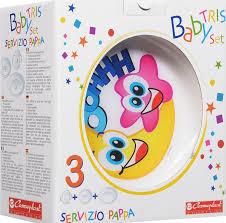 8002953002706 <b>Cosmoplast</b> Набор <b>детской</b> посуды Baby Tris Set ...