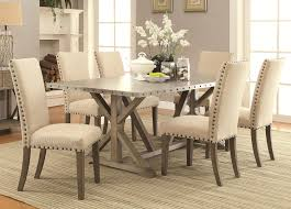 transitional dining chair sch: amazoncom janes gallerie  piece metal amp driftwood trestle dining set table amp chair sets